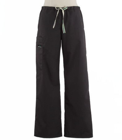 Scrub Med womens low rise, wide leg scrub pants on sale charcoal
