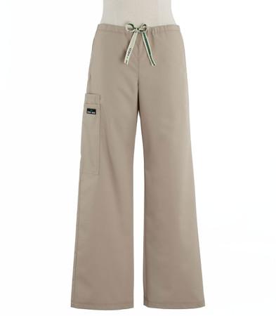 Scrub Med womens low rise, wide leg scrub pants on sale khaki