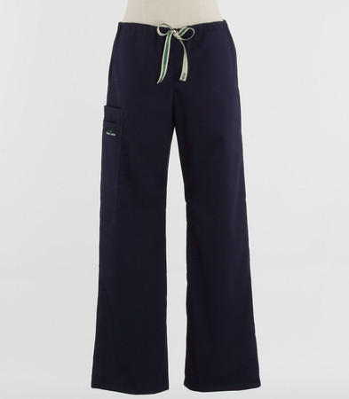 Scrub Med womens low rise, wide leg scrub pants on sale navy