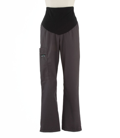 Scrub Med womens maternity scrub pants charcoal