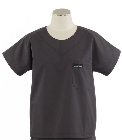 Scrub Med womens scrub top charcoal