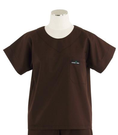 Scrub Med womens scrub top dark chocolate
