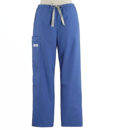 Scrub Med womens drawstring scrub pants bimini blue