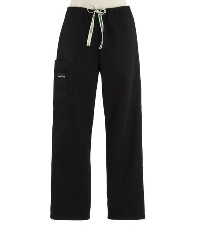 Scrub Med womens drawstring scrub pants black
