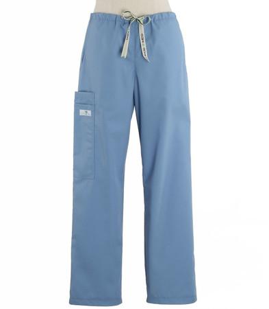 Scrub Med womens drawstring scrub pants celestial blue