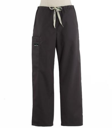Scrub Med womens drawstring scrub pants charcoal