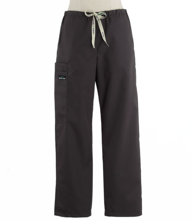 Scrub Med womens drawstring scrub pants charcoal