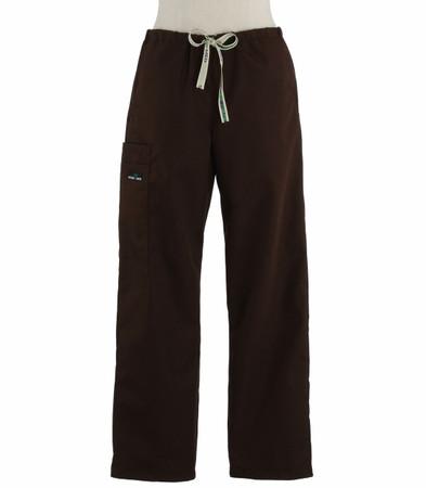 Scrub Med womens drawstring dark chocolate scrub pants