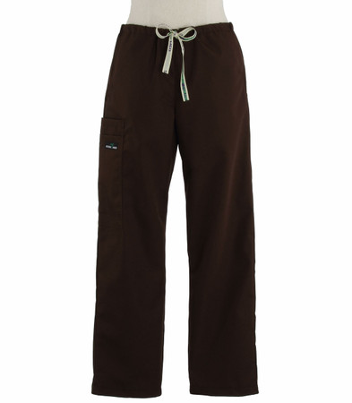 Scrub Med womens drawstring dark chocolate scrub pants