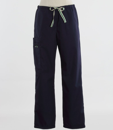 Scrub Med womens drawstring scrub pants navy