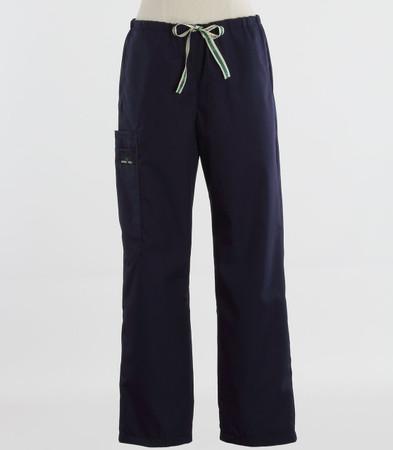 Scrub Med womens drawstring scrub pants navy