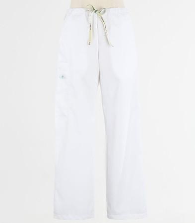 Scrub Med womens drawstring scrub pants white