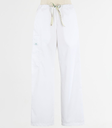 Scrub Med womens drawstring scrub pants white