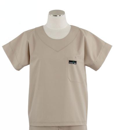 Scrub Med womens scrub top khaki