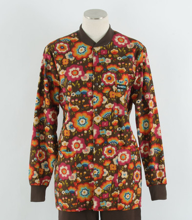 Scrub Med womens crew neck lab jacket flying colors