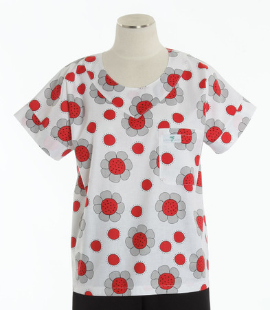 Scrub Med womens print scrub top ladybug paradise