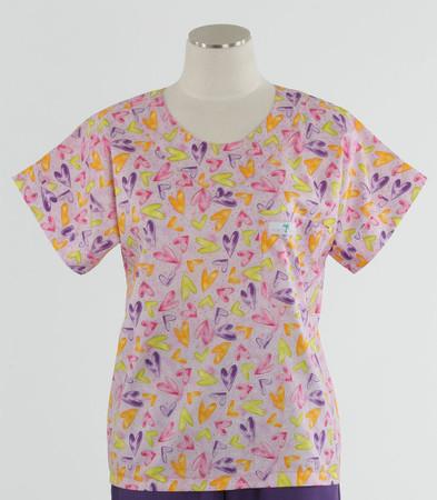 Scrub Med womens print scrub top on sale light hearted
