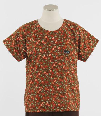 Scrub Med womens print scrub top on sale panzy pazazz