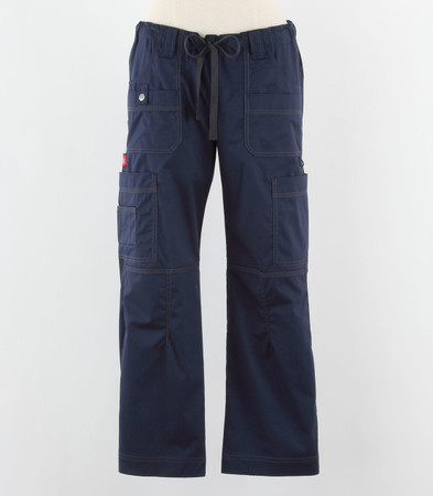 Dickies Gen Flex Womens Cargo Scrub Pants Navy