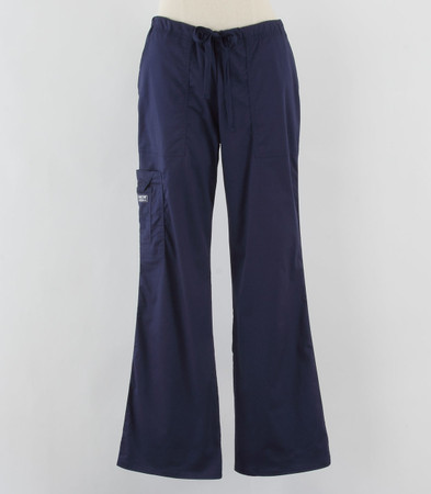 Cherokee Workwear Womens Cargo Scrub Pants Navy - Petite