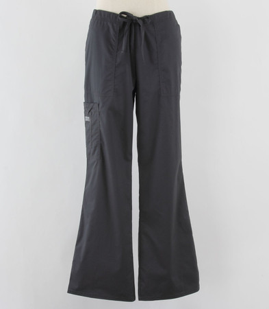 Cherokee Workwear Womens Cargo Scrub Pants Pewter Petite