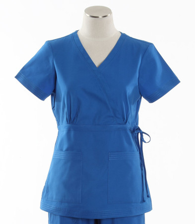 Koi Womens Scrub Top Katelyn Cut Royal