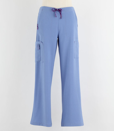 Carhartt Womens Petite Cross Flex Boot Cut Scrub Pants Ceil Blue