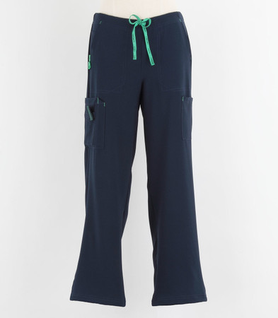 Carhartt Womens Petite Cross Flex Boot Cut Scrub Pants Navy