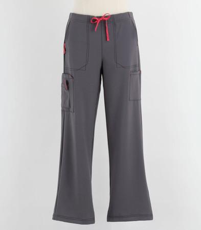 Carhartt Womens Petite Cross Flex Boot Cut Scrub Pants Pewter