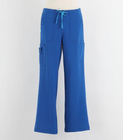 Carhartt Womens Petite Cross Flex Boot Cut Scrub Pants Royal
