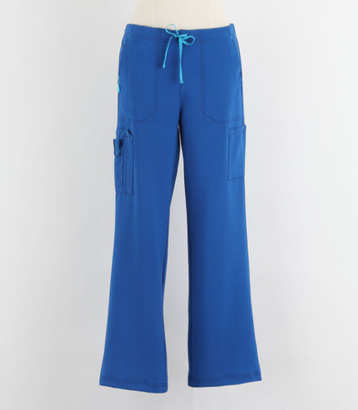 Carhartt Womens Petite Cross Flex Boot Cut Scrub Pants Royal