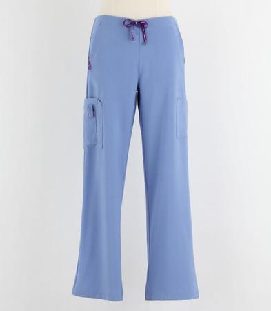 Carhartt Womens Tall Cross Flex Boot Cut Scrub Pants Ceil Blue