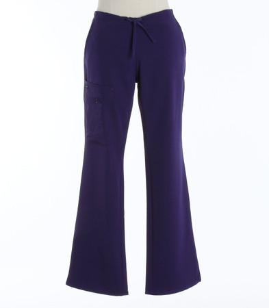 Jockey Womens Scrub Pants with Half Elastic, Half Drawstring Purple