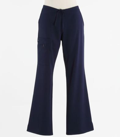 Jockey Womens Petite Scrub Pants with Half Elastic, Half Drawstring New Navy