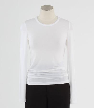 WonderWink Womens Silky Long Sleeve Tee White