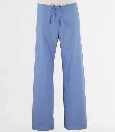 Maevn Petite Unisex Seamless Drawstring Scrub Pants Ceil Blue