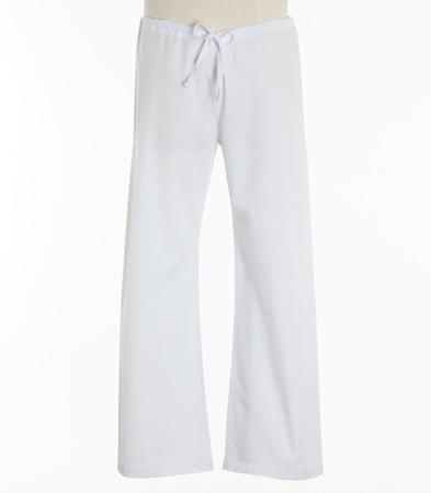 Maevn Petite Unisex Seamless Drawstring Scrub Pants White