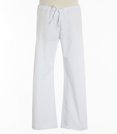 Maevn Tall Unisex Seamless Drawstring Scrub Pants White