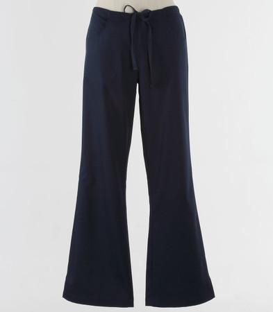 maevn Womens Fit Drawstring w/ Back Elastic Flare Leg Scrub Pant Navy