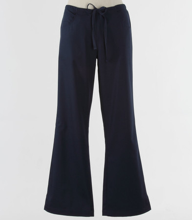 maevn Womens Fit Tall Drawstring w/ Back Elastic Flare Leg Scrub Pant Navy