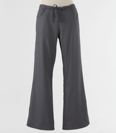 maevn Womens Tall Fit Drawstring w/ Back Elastic Flare Leg Scrub Pant Pewter