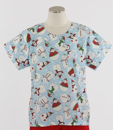 Scrub Med discount print scrub top Frosted Flakes