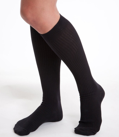 prestige medical nursing compression socks black