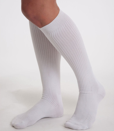 prestige medical nursing compression socks white