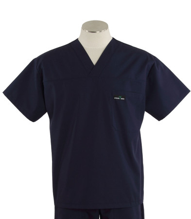 Scrub Med mens navy v-neck scrub top