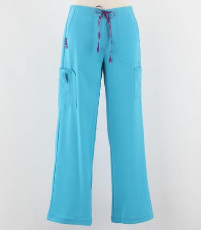 Carhartt Womens Tall Cross Flex Boot Cut Scrub Pants Cyan