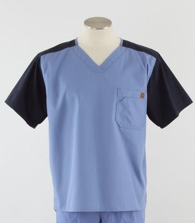 Carhartt mens scrub top color block ceil/navy
