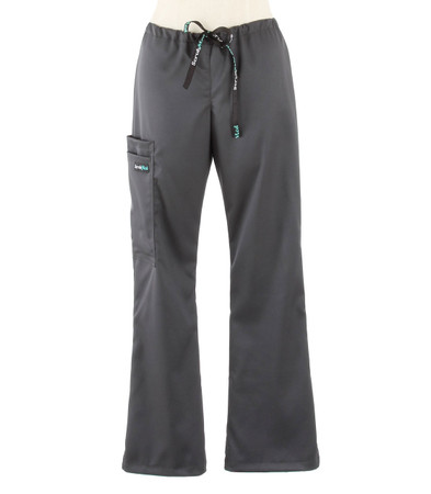 Scrub Med womens flare leg stretch scrub pants pewter