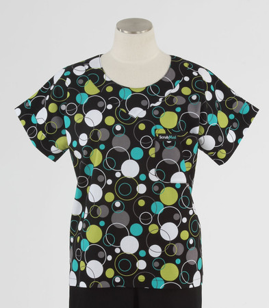 scrub med discount print scrub top hoopla dots