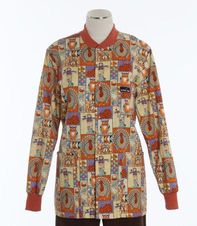 Scrub Med discount print scrub jacket giving thanks